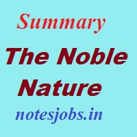 Summary of The Noble Nature